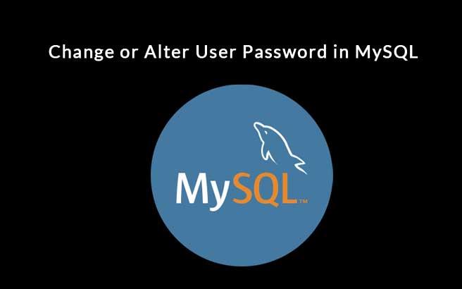 Change or Alter User Password in MySQL