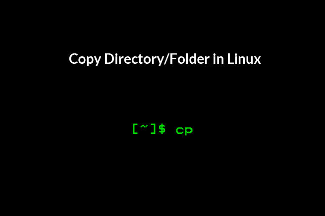 Copy Directory/Folder in Linux via Command Line