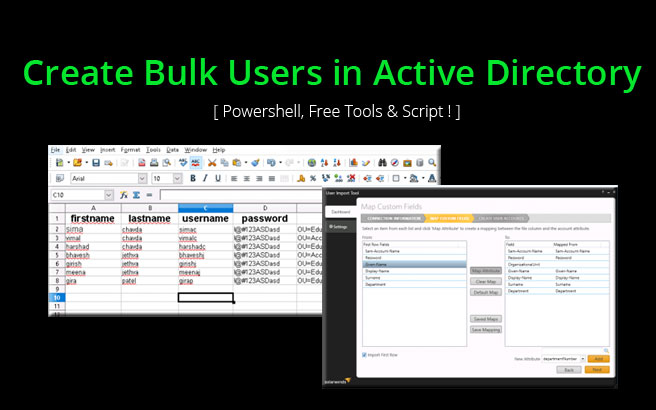 Create Bulk Users in Active Directory Using Powershell & Free Tools