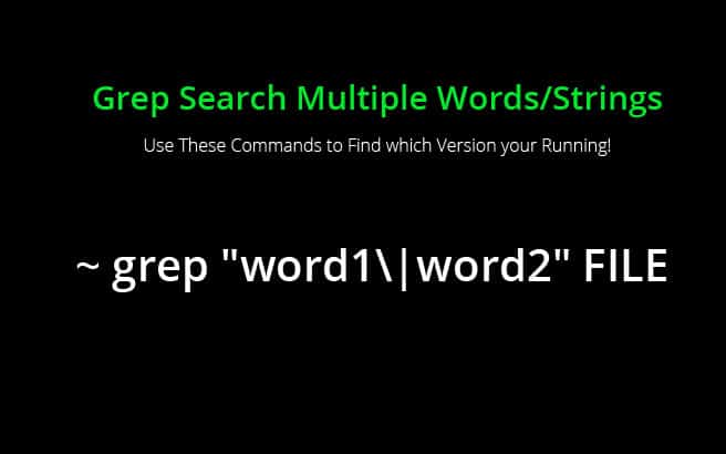 Grep Search Multiple Words / String Patterns (Bash Shell)