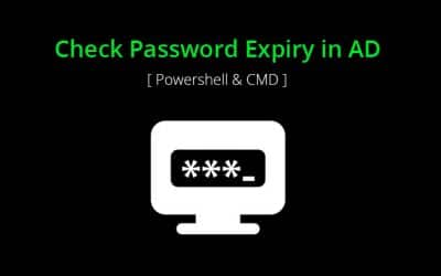 HowTo Check when Password Expires in AD with Powershell and CMD