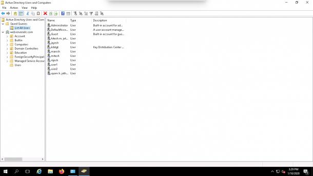 LDAP query OK Button