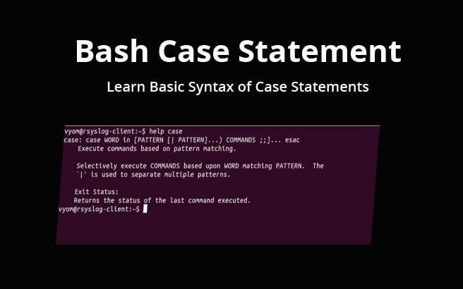 bash case statements