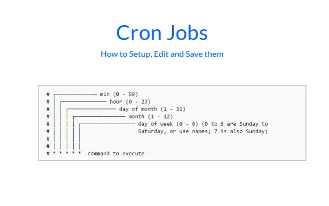 cron jobs