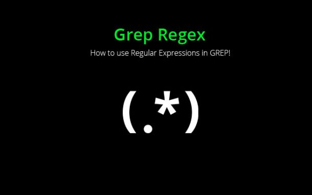 grep regex examples and tutorial