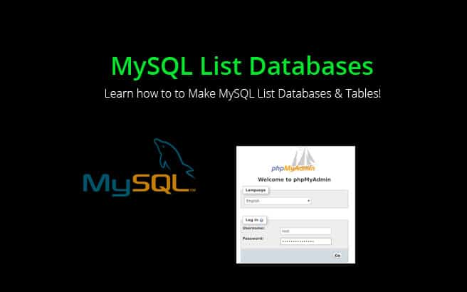 mysql list databases and tables commands and syntax