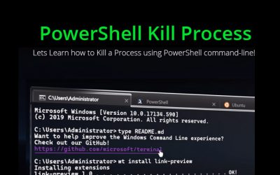powershell kill process or application