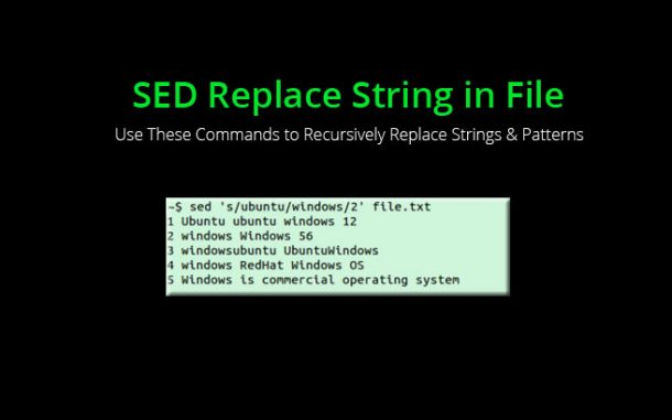 sed replace string in file using regex recursively