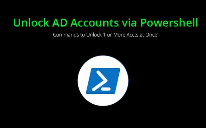 unlock ad accounts using powershell