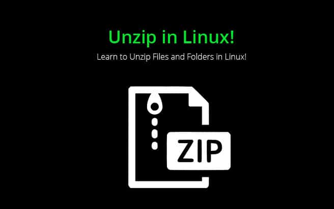 unzip linux files folders guide and tutorials